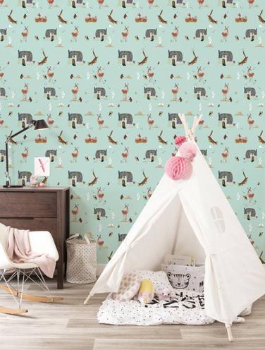 Behang Fiep Westendorp voor de babykamer