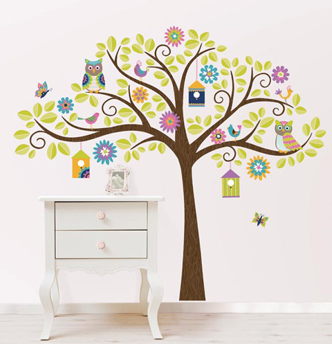 Behang Babykamer Boom.Muurdecoratie Babykamer Originele Muurstickers Behang Muursticker