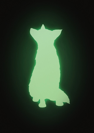 Muurstickers dieren glow in the dark