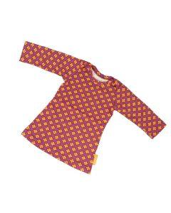 Jurkje t-shirt retro bloemetjes paars