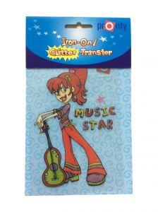 Strijkapplicatie gitaar retro Music Star