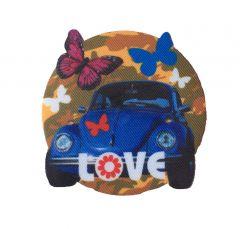 Strijkapplicatie met VW Kever en vlinders