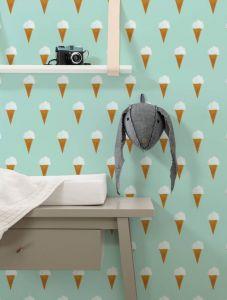 Behang ijsjes van Fiep Westendorp