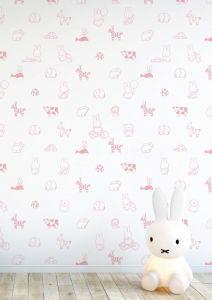 Behang Nijntje babykamer Animals dieren