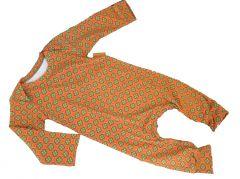 Boxpakje met retro bloemetjes print oranje