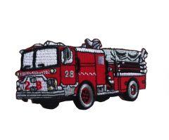 Strijk-applicatie met brandweerauto voor stoere boys