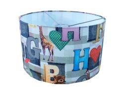 Hanglamp dieren letters babykamer patchwork