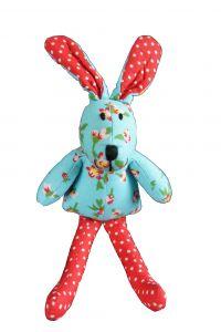 Knuffel konijn met bloemetjes