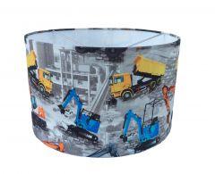 Hanglamp kraan en vrachtauto jongenskamer