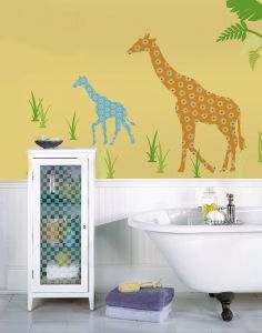 Muursticker giraf Riley voor de kinderkamer
