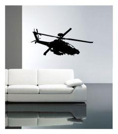 Muursticker velours met helicopter Coart Wall Stickers