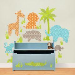Muurstickers babykamer dieren jungle