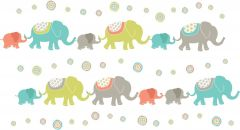Muursticker set met olifanten voor de babykamer