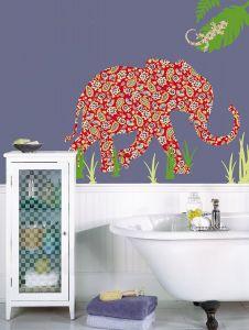 Muursticker Mabuza de olifant voor de kinderkamer