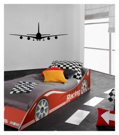 Muursticker met vliegtuig velours Airplane