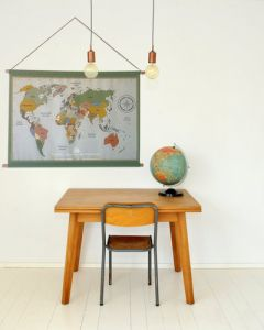Poster wereldkaart vintage