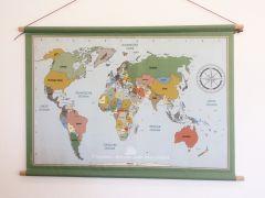 Poster vintage wereldkaart