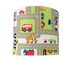 Wandlamp jongenskamer verkeersplein en auto's