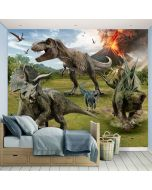 Posterbehang XXL Jurassic World dinosaurus Walltastic