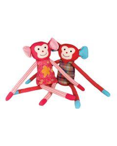 Knuffel aap met lange benen