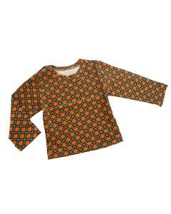 T-shirt baby met retro bloemen print maat 68