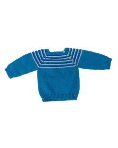 Babytrui blauw met streepjes