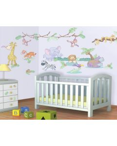 Muurstickers baby jungle Decor Kit Walltastic