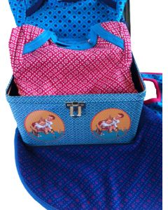 Babycadeaupakket tweeling unisex Danish Red and Blue