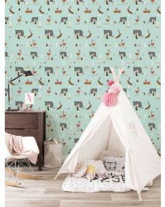 Behang bosdieren van Fiep Westendorp mint