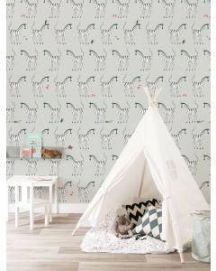 Behang zebra van Fiep Westendorp