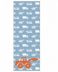 Behang paneel graafmachine blauw