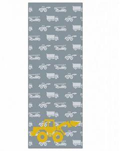 Behang paneel graafmachine grijs