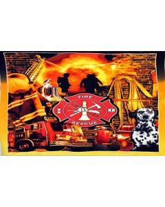 Deken brandweer retro