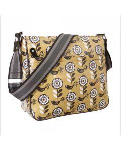 Messenger bag tas met gele bloemen