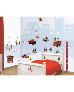 Muurstickers brandweerman Sam Decor Kit Walltastic