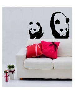 Muursticker met panda velours