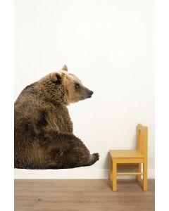 Muursticker dieren Forest Friends Bear XL beer