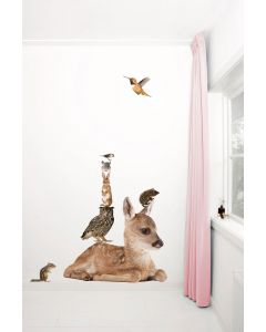 Muursticker dieren Forest Friends Deer XL hert