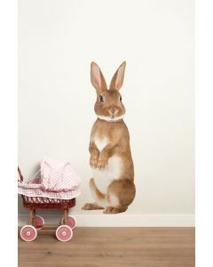 Muursticker dieren Forest Friends Rabbit XL konijn
