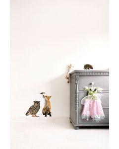 Muursticker dieren Forest Friends Set 4 vos en uil