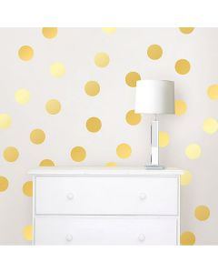 Muurstickers goud noppen confetti