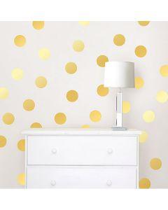 Muurstickers goud stippen confetti
