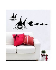 Muursticker met haaien velours Coart Wall Stickers
