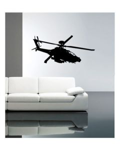 Muursticker velours met helicopter Coart Wall Stickers