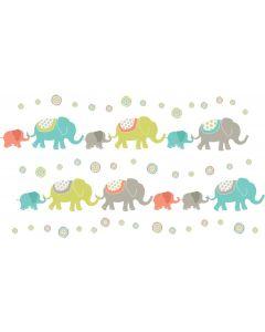 Muursticker babykamer met olifanten