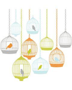 Muursticker St Tropez met vogelkooi