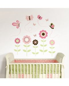 Muursticker babykamer set met vlinders