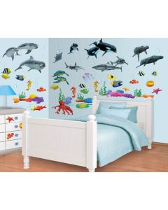 Muurstickers onderwater Decor Kit Walltastic
