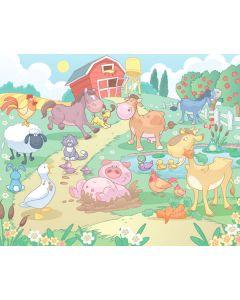 Posterbehang babyboerderij Walltastic XXL