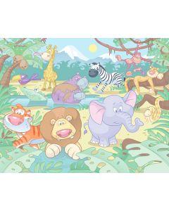 Posterbehang Baby Jungle Walltastic XXL